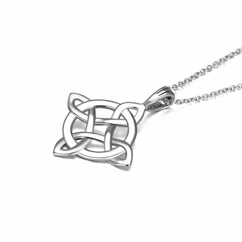 2018 New 925 Sterling Silver Classic Necklace Lucky Knot Lucky Pendants Necklaces Fashion Women Jewelry & Accessories GNX9872-B
