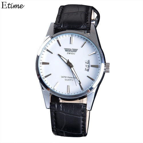 3PCS Quartz Watches Men Famous Wristwatch Military Sports Men Watch Outdoor Clock Date Leather Band relogio masculino 3 Colors