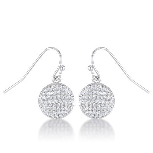 .6 Ct Elegant CZ Disk Earrings-JewelryKorner-com