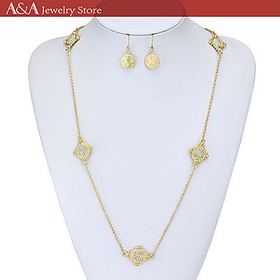 Brightly Fashion OL Elegant Style Long Necklaces Link Chain Necklaces for Women New Accessory