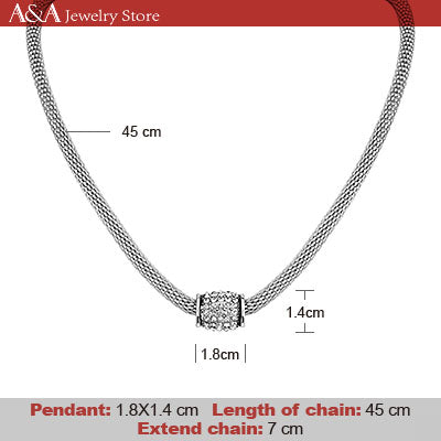 Brightly Fashion Snake Chain Chokers Necklaces Rotatable Rhinestones Pendants Necklaces for Women OL Casual Style