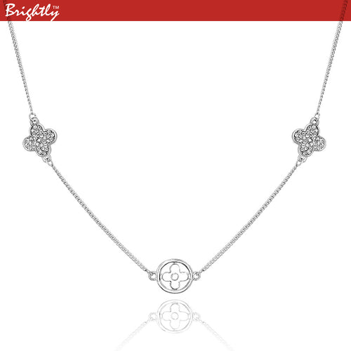 Brightly Necklaces Lucky Four Leaf Clover Pendant Necklace for Women Gifts