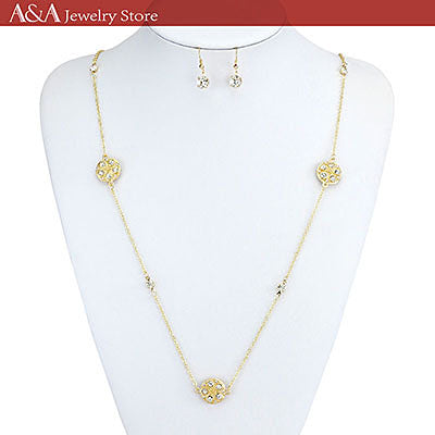 Brightly OL Style Long Necklaces Snowflake Design Elegant Link Chain Necklaces for Woment Gifts