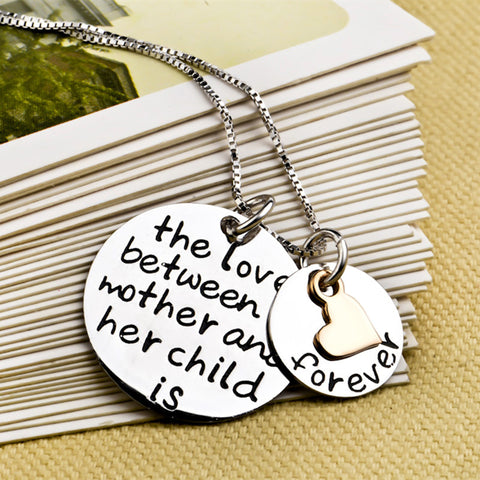 GNX0330 Genuine 925 Sterling Silver Charms Necklace Mother Child Love Necklaces & Pendants Fashion Jewelry For Women Collier