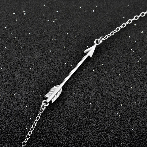 GNX0588 Collares 2016 Fashion Jewelry 925 Sterling Silver Arrow Pendants Necklaces Love Jewelry Necklace Gifts For Women