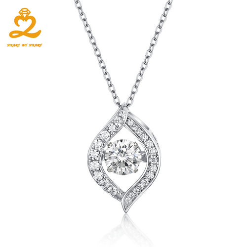 Heaart By Heart Fashion Pendant Necklace Elegant for Women with Topaz Stone Choker 925 Silver Jewelry Female Wedding Necklaces