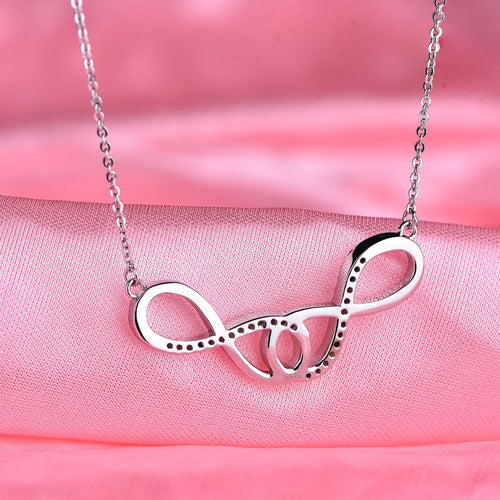 JO WISDOM Double Infinity Pendants Necklaces Accessories Costume Jewelry Summer Style