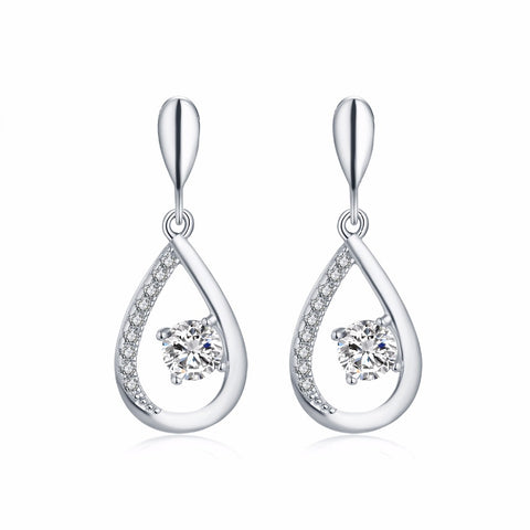 JO WISDOM Fine Jewelry Silver Earrings Ladies jewelery Accessories Long Drop Earring with CZ Everything for a wedding