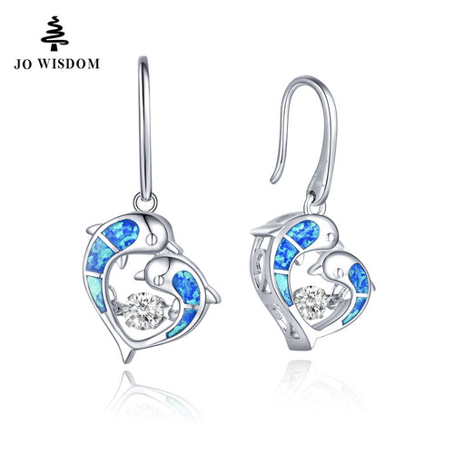 JO WISDOM Real Silver 925 Dangle Earrings Dancing Stone with Natural Topaz Earrings for Women Accessories