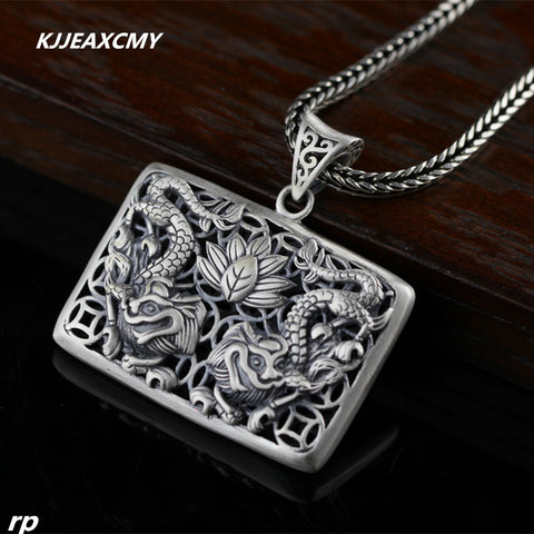 925 sterling silver jewelry jewelry boutique retro Unisex beautiful silver pendant dragon flight