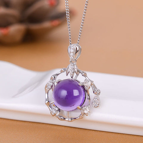 KJJEAXCMY boutique jewelry,Colorful jewelry, 925 silver inlaid Amethyst rings, simple generous wholesale female models