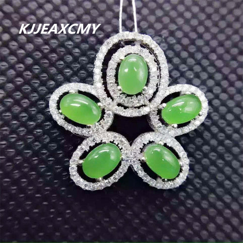 KJJEAXCMY boutique jewelry,Jasper Necklace, 925 sterling plated platinum inlay, natural and Tian Biyu pendants, ladies