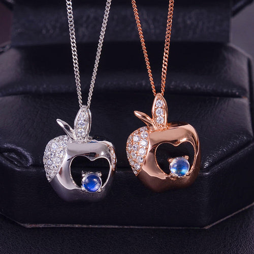 KJJEAXCMY boutique jewelry Multicolored jewelry 925 silver inlay natural blue moonlight Pendant shinv simple wholesale