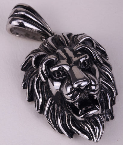 Lion necklace for men women 316L stainless steel pendant W/ chain GN06 antique gold silver biker jewelry wholesale dropship