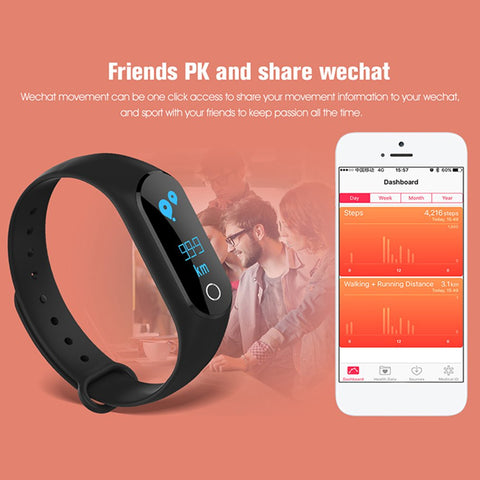 M6S Bluetooth Smart Bracelet Heart Rate Sports Waterproof Fitness Wristbands Call Message Reminder Alarm Clock Sport Band