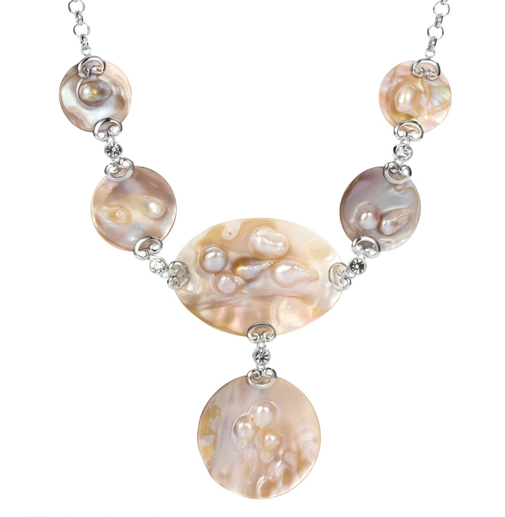 Mother of pearl shell necklace choker fashion jewelry birthday gifts for women mom her wife girlfriend I003 wholesale dropship