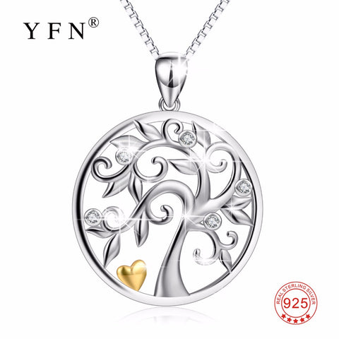 New 925 Sterling Silver Tree Of Life Classic Pendants Necklaces Charming Jewelry & Accessories For Women PYX0670