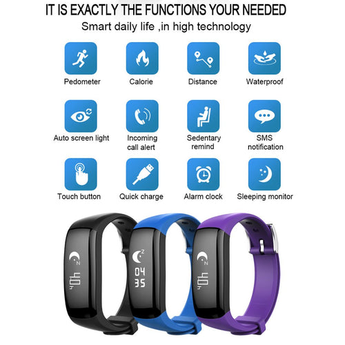 P6 Bluetooth Smart Bracelet for iPhone IOS Android Calorie Counter Pedometer Digital Tracker LCD Sport Fitness Watches