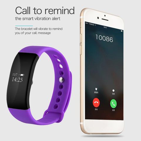 V66 Sport Smart Band Bluetooth IP68 Waterproof Heart Rate Monitor Wristband Smart Health Sleep Bracelet for Android IOS