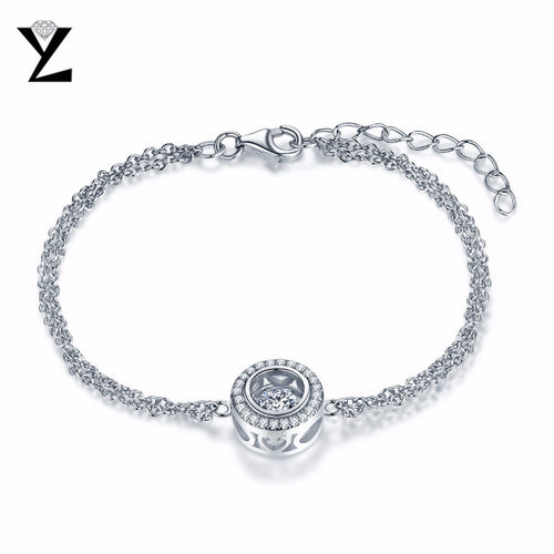 YL Dancing Round 925 Sterling Silver Friendship Bracelets for Women Best Friends Wholesale Fashion Jewelry for Wedding Party