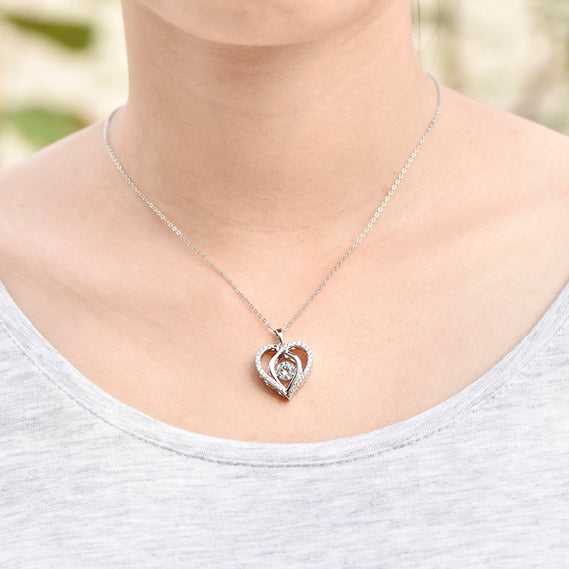 YL Heart 925 Sterling Silver Necklaces Pendants for Women