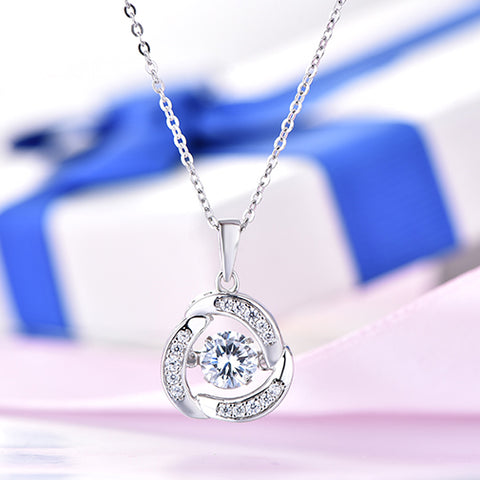 YL Topaz 925 Sterling Silver Pendant Necklaces for Women Wedding Fine Jewelry with Topaz Natural Stone for Best Friends Gift