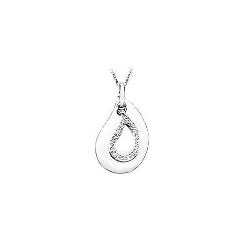 A Tear to Treasure .925 Sterling Silver Pendant with 18 Inch chain-JewelryKorner-com