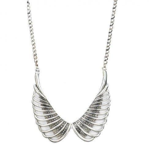 Angel Wings Studded Necklace (pack of 1 EA)-JewelryKorner-com
