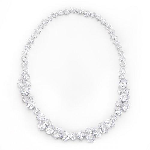 Bejeweled Cz Collar Necklace (pack of 1 ea)-JewelryKorner-com
