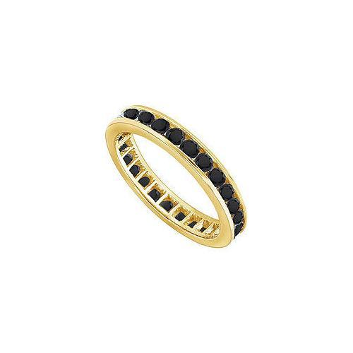 Black Diamond Eternity Band : 14K Yellow Gold - 4.00 CT Diamonds-JewelryKorner-com