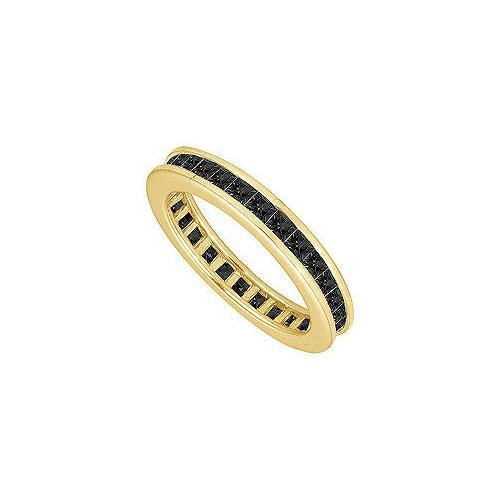 Black Diamond Eternity Band : 14K Yellow Gold – 5.00 CT Diamonds-JewelryKorner-com