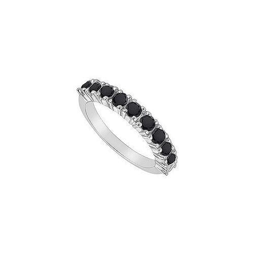 Black Diamond Ring : 14K White Gold - 1.00 CT TGW-JewelryKorner-com