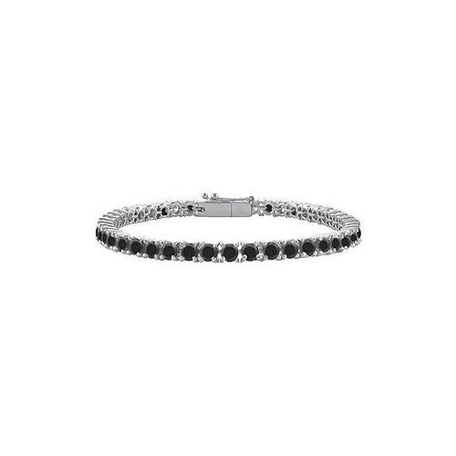Black Diamond Tennis Bracelet : 925 Sterling Silver - 5.00 CT Diamonds-JewelryKorner-com