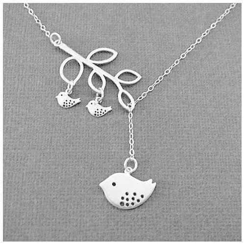 Blessed Birds On The Branch Necklace-JewelryKorner-com