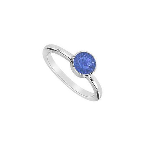 Blue Sapphire Ring : 14K White Gold - 0.75 CT TGW-JewelryKorner-com