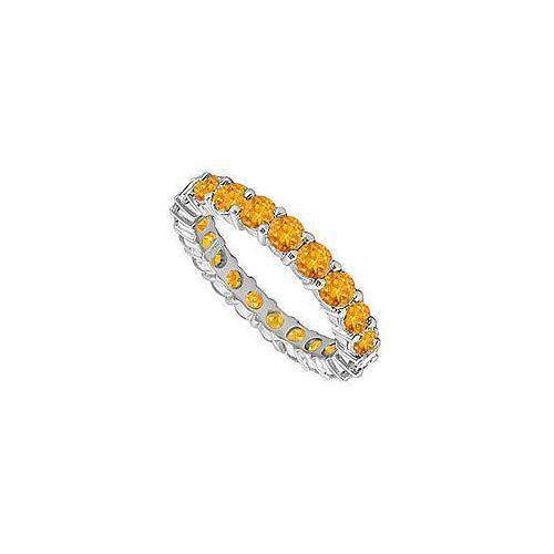 Citrine Eternity Band : 14K White Gold – 5.00 CT TGW-JewelryKorner-com