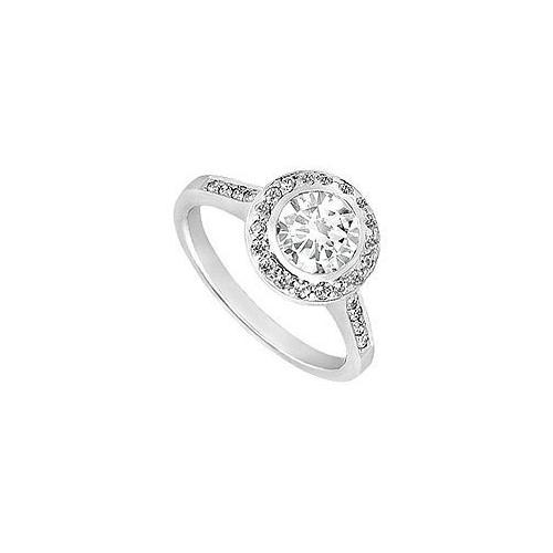 Cubic Zirconia Engagement Ring 10K White Gold 1.00 CT TGW-JewelryKorner-com