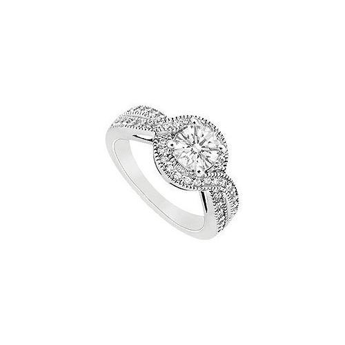Cubic Zirconia Engagement Ring 14K White Gold 2.50 CT TGW-JewelryKorner-com