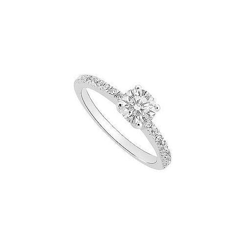 Cubic Zirconia Engagement Ring .925 Sterling Silver 0.50 CT TGW-JewelryKorner-com