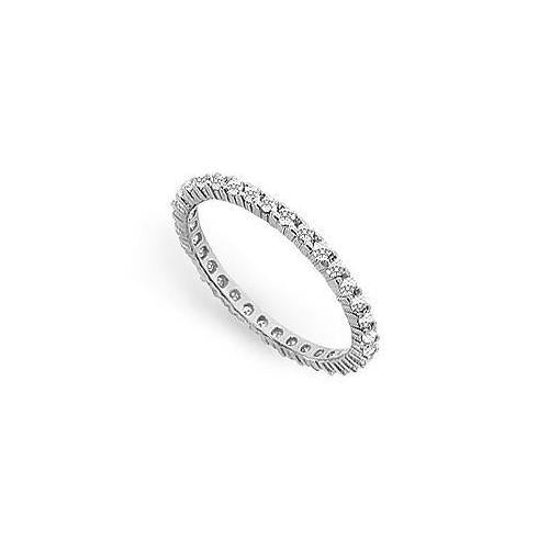 Cubic Zirconia Eternity Band : .925 Sterling Silver - 0.50 CT TGW-JewelryKorner-com