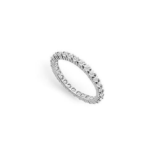 Cubic Zirconia Eternity Band : .925 Sterling Silver - 0.75 CT TGW-JewelryKorner-com