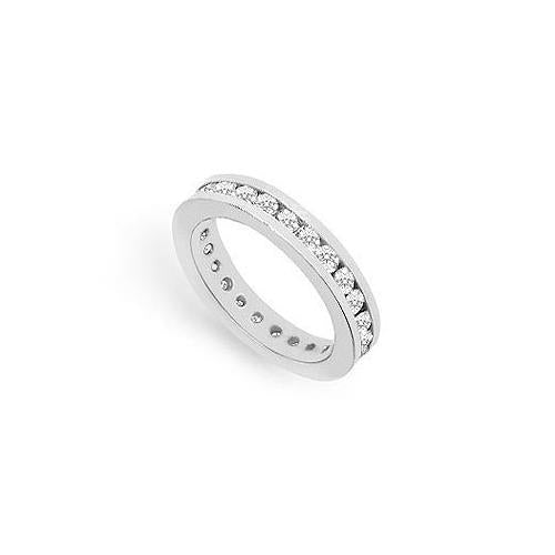 Cubic Zirconia Eternity Band : .925 Sterling Silver - 1.00 CT TGW-JewelryKorner-com
