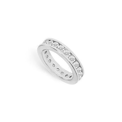 Cubic Zirconia Eternity Band : .925 Sterling Silver - 2.00 CT TGW-JewelryKorner-com