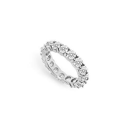 Cubic Zirconia Eternity Band : .925 Sterling Silver - 3.00 CT TGW-JewelryKorner-com