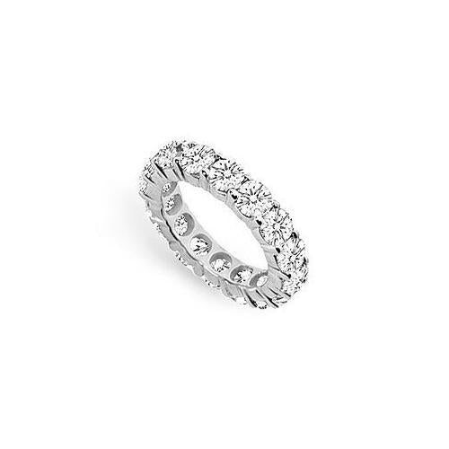 Cubic Zirconia Eternity Band : .925 Sterling Silver - 5.00 CT TGW-JewelryKorner-com