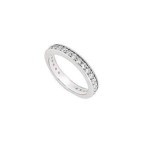 Cubic Zirconia Wedding Band .925 Sterling Silver 0.50 CT TGW-JewelryKorner-com