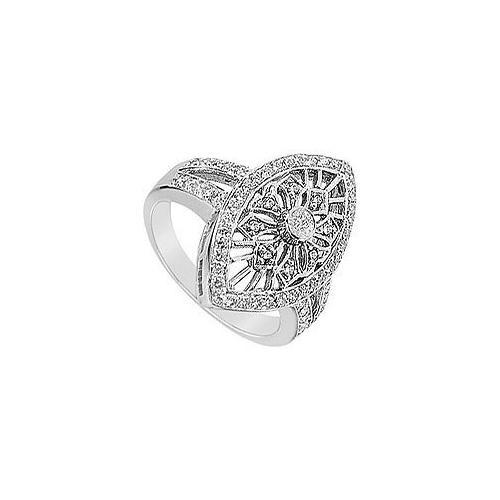 Diamond Classic Ring : 14K White Gold - 0.75 CT Diamonds-JewelryKorner-com