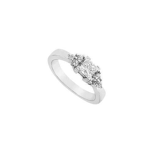 Diamond Engagement Ring : 14K White Gold - 0.66 CT Diamonds-JewelryKorner-com