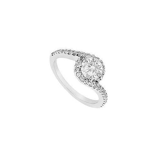 Diamond Engagement Ring : 14K White Gold - 0.75 CT Diamonds-JewelryKorner-com