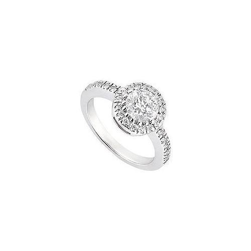 Diamond Engagement Ring : 14K White Gold - 1.00 CT Diamonds-JewelryKorner-com